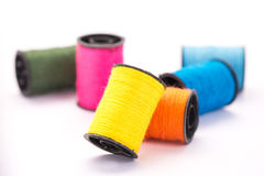 Many colorful threads Royalty Free Stock Image