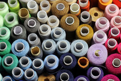 Many colorful threads. View from above Royalty Free Stock Photos