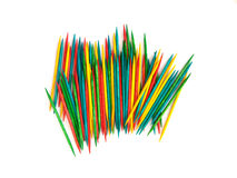 Many colorful toothpicks Royalty Free Stock Photo
