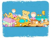 Many colorful toys set. Stock Image