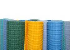 Many colorfull yoga mats as a background Stock Image