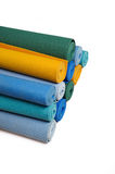 Many colorfull yoga mats as a background Stock Photo