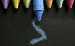 Many Colors of Chalk Royalty Free Stock Photo
