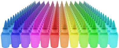 Many colors of paint Stock Photography