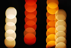 many colour bokeh black background royalty free stock images