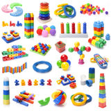 Many colour kids toys Stock Photography