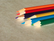 Many colour pencil Royalty Free Stock Images