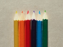 Many colour pencil Royalty Free Stock Photography