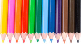 Many Colour Pencils In A Row Royalty Free Stock Photo