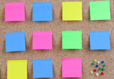 Many colour post-it Royalty Free Stock Image