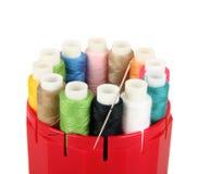 Many-coloured bobbins Royalty Free Stock Photography