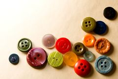 Many coloured buttons Royalty Free Stock Photography