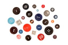 Many-coloured buttons. Royalty Free Stock Photo
