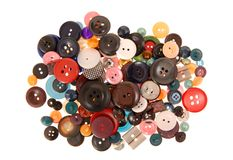 Many-coloured buttons Royalty Free Stock Photo