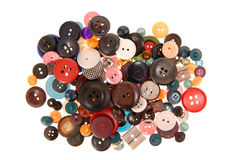 Many-coloured buttons. Are on white background Royalty Free Stock Photography