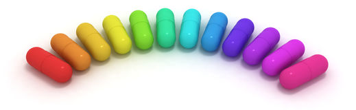 Many-coloured capsules Royalty Free Stock Photo