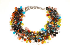 Many-coloured necklace. Stock Photo