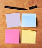 Many-coloured sticky paper Stock Photos