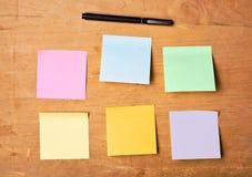 Many-coloured sticky paper Stock Image