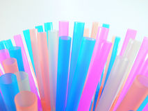 Many coloured straws Stock Images