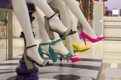 Many-coloured women s shoes Stock Photos