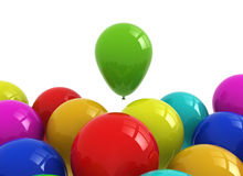 Many colourful balloons Stock Images