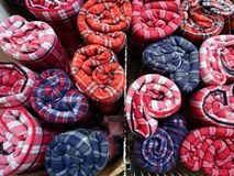 Many Colourful Blankets Stock Photography