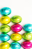 Many easter eggs with copy space Royalty Free Stock Photo