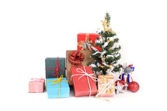 Many colourful gift boxes. Royalty Free Stock Photo