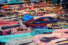 Many colourful necklaces Royalty Free Stock Images
