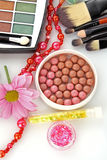 Many colourful woman cosmetics Stock Photo
