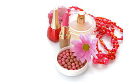 Many colourful woman cosmetics Stock Photography