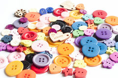 Many colours of buttons Royalty Free Stock Photos