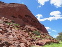 Uluru, Northern Territory, Australia 02/22/18. The many textures of Uluru. The many colours and textures of the rock taken from the base walk trail royalty free stock image