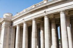 Many Columns Around Saint Peters Square Royalty Free Stock Photo