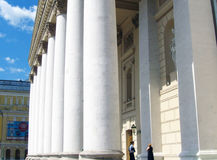 Many columns. Bolshoi theater in Moscow. Royalty Free Stock Photography
