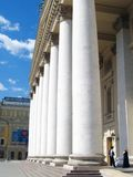 Many columns. Bolshoi theater in Moscow. Royalty Free Stock Image