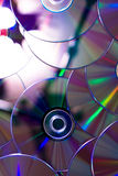 Many compact discs Royalty Free Stock Images