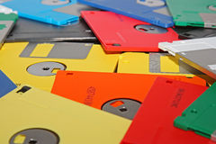 Many computer diskette Royalty Free Stock Photos