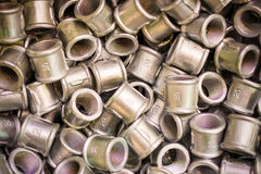 Many of connecting fittings for metal pipes. Passivation of the casting surface. Royalty Free Stock Photo