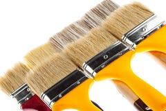 Many construction paintbrushes Royalty Free Stock Image
