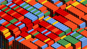 Many container. Visualisation: many container in the harbour Royalty Free Stock Image