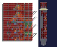 Many container, harbour. Visualisation: many container in the harbour Stock Image
