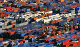 Many containers ready for shipping. Or transport, industrial photo royalty free stock photos