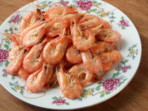 Many cooked prawns Royalty Free Stock Image