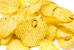 Many corrugated chips closeup Stock Image