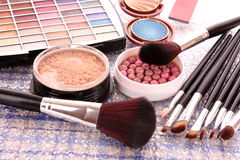 Many   cosmetics for make up Stock Photo