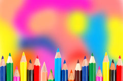 Many crayons Stock Photography