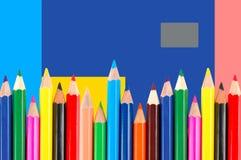 Many crayons Stock Photos