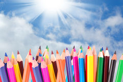 Many Crayons Royalty Free Stock Photography